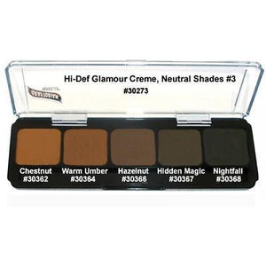 Graftobian HD Glamour Crème Foundations Palette, Neutral #3