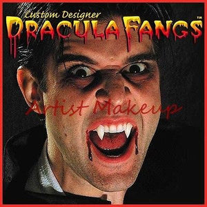 DRACULA FANGS CUSTOM MENS SIZE VAMPIRE MEDIUM TWILIGHT THERMOPLASTIC TEETH
