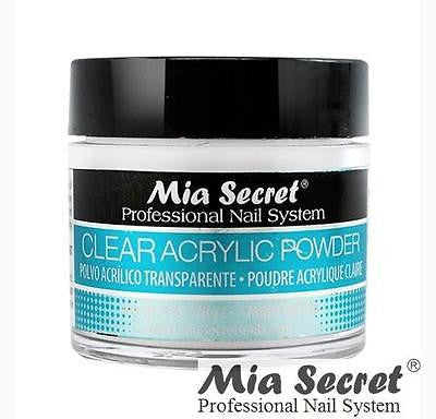Mia Secret Acrylic Nail Powder 3D White, Pink, Clear - 1 oz Bottle -MADE IN USA