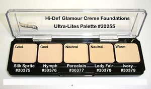 Graftobian HD Glamour Crème Foundations Palette, Ultralights Ultra-Lite