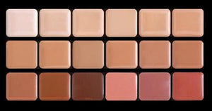 Graftobian High Definition HD Crème Foundation Super Palette, 18 Cool Colors