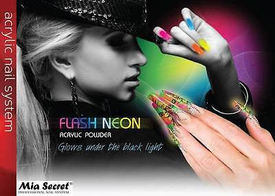 MIA SECRET NAIL ART FLASH NEON FLASHNEON ACRYLIC POWDER 6 LOT