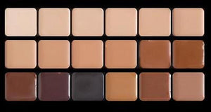 Graftobian High Definition HD Crème Foundation Super Palette, 18 Neutral Colors