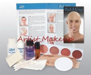 Mehron Bald Cap Complete Student Makeup Kit Set Professional ~ Easy Instructions