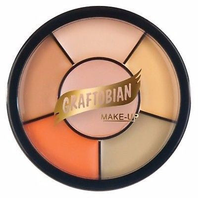 Graftobian Light Corrector & Tattoo Cover Wheel Theatrical Professional Makeup
