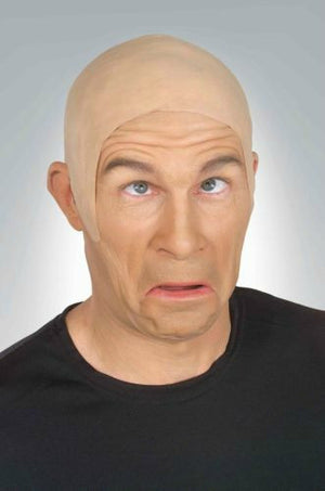 Bald Cap latex flesh & Dark Skin Head theater Stage Halloween mask wig clown