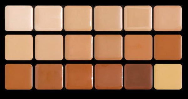 Graftobian High Definition HD Crème Foundation Super Palette, 18 Warm Colors