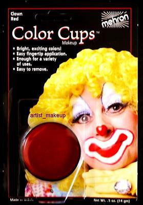 Mehron Clown Red Face Paint 0.5 oz Costume Stage Theatrical makeup
