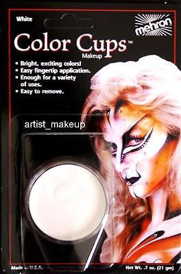 Mehron Clown White Face Paint 0.5 oz Costume Stage Theatrical makeup