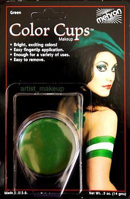 Mehron Clown Green Foundation Face Paint 0.5 oz Costume Stage Theatrical makeup