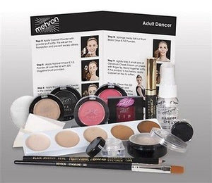 Mehron Complete Student Dance Makeup Kit Set Professional ~ Easy Instructions
