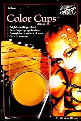 Mehron Clown Yellow Foundation Face Paint 0.5 oz Costume Stage Theatrical makeup