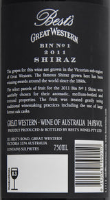 2011 Best's Great Western Bin No 1 Shiraz