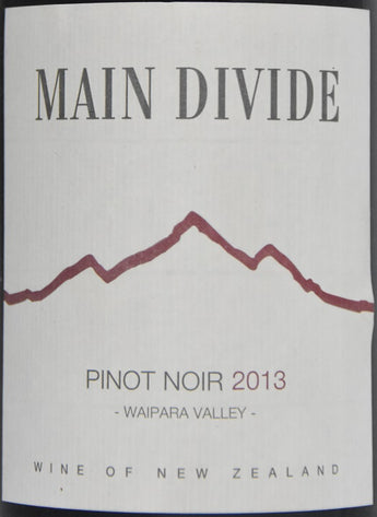 2014 Main Divide Pinot Noir