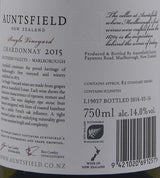 2015 Auntsfield Single Vineyard Chardonnay