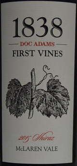 2015 Doc Adams 1838 First Vines Shiraz