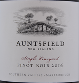 2016 Auntsfield Single Vineyard Pinot Noir