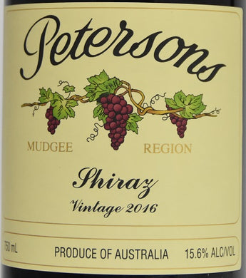 2016 Petersons Shiraz