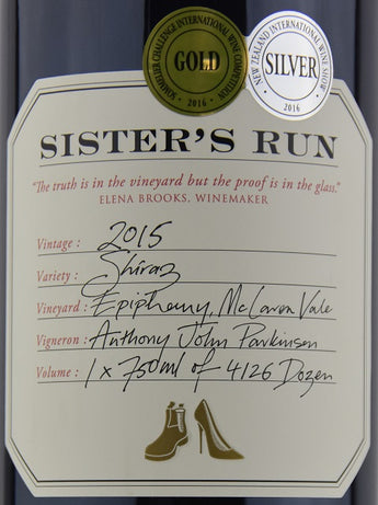 2017 Sister's Run Epiphany Shiraz