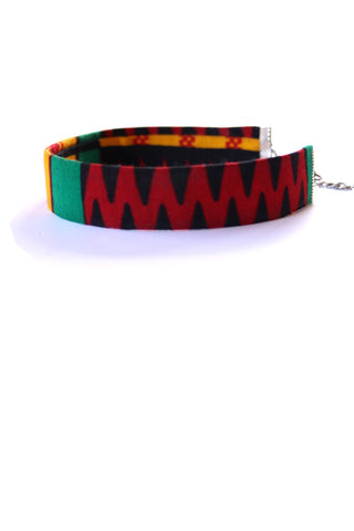 African kente choker necklace
