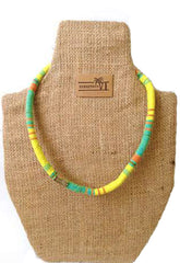 MADRAS NECKLACE (YELLOW MULTI )