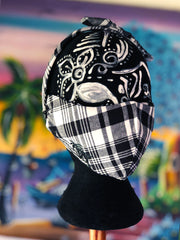 Madras Mask Black & White/Multi