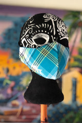 Madras Customizable Mask (Sea Blue/Multi)