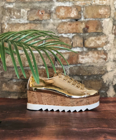 Golden Steppas Platform Sneakers