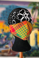 Madras Cusomizable Mask (Red-Green/Multi)