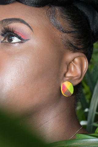 MADRAS STUD POST EARRING