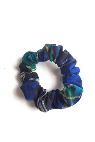 Thee Madras Scrunchie (Navy-Multi)