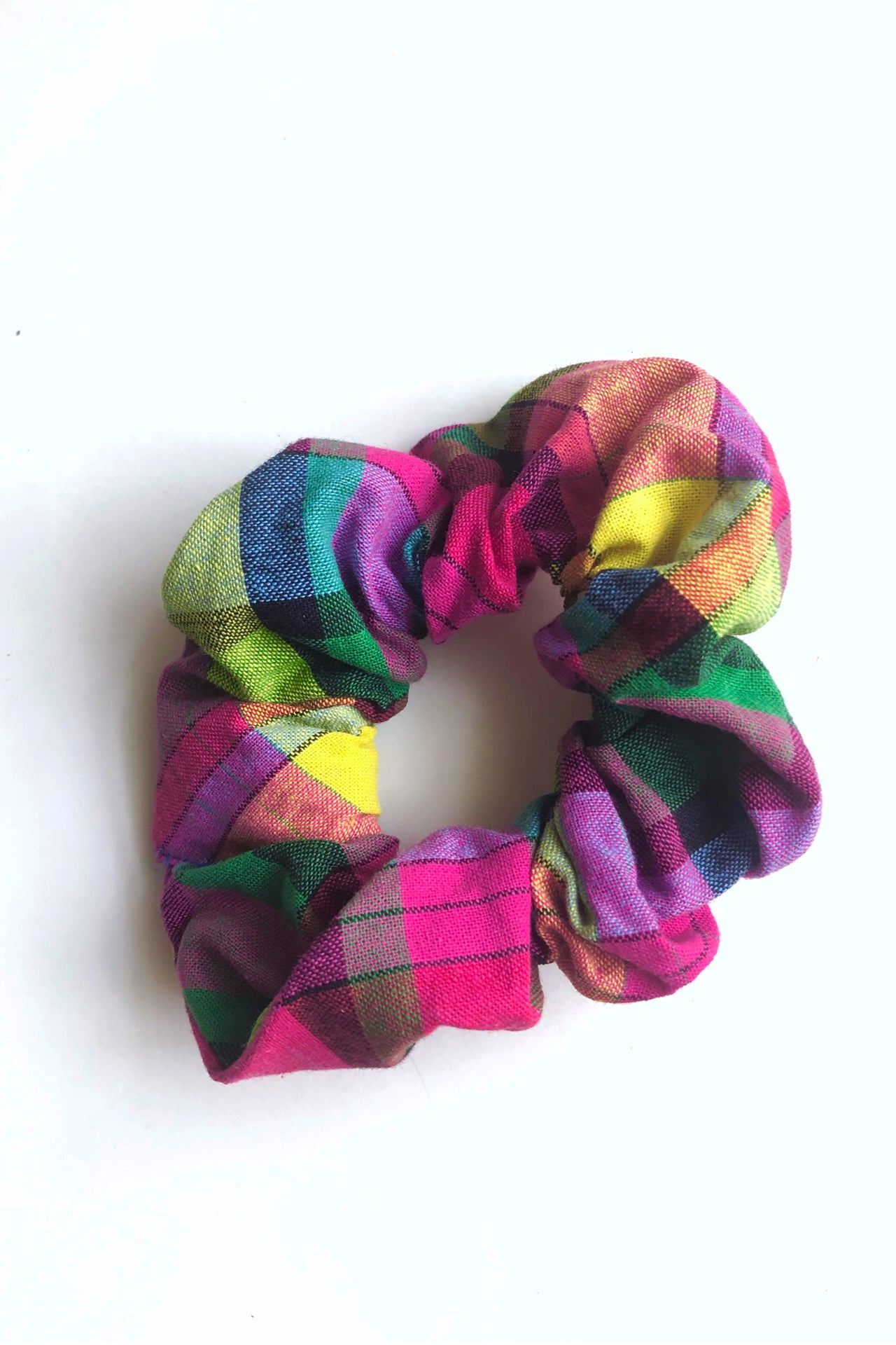 Thee Madras Scrunchie (Pink-Multi)