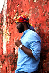 Makin Waves Madras Durag (Red-Multi)
