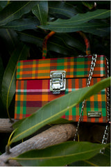 Caribbean Vibes Madras Box Bag (Red/Green-Multi)