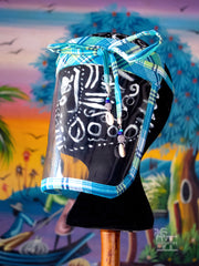 Shielded in Culture Madras Face Shield (Sea Blue-Multi)