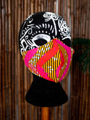 Customizable Designer Face Mask/Covering (Tropic Spiral)