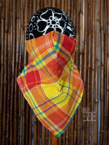 Convertible Madras Bandana Mask (Yellow- Multi)