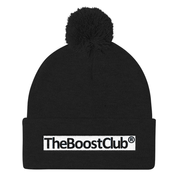 TheBoostClub® Happy Pom Pom Knit Hat 1