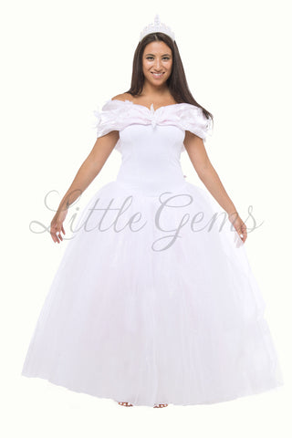 Adult Cinderella Dress in White