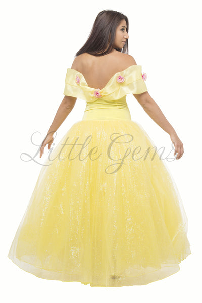 Adult inspired Ella Dress in Yellow (Belle) for Adults