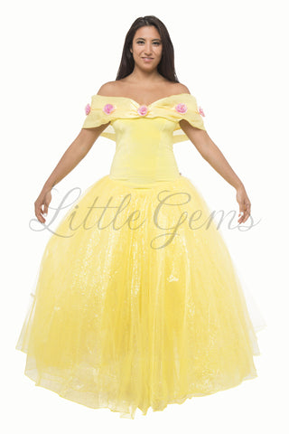 Ella Dress in Yellow (Belle) for Adults