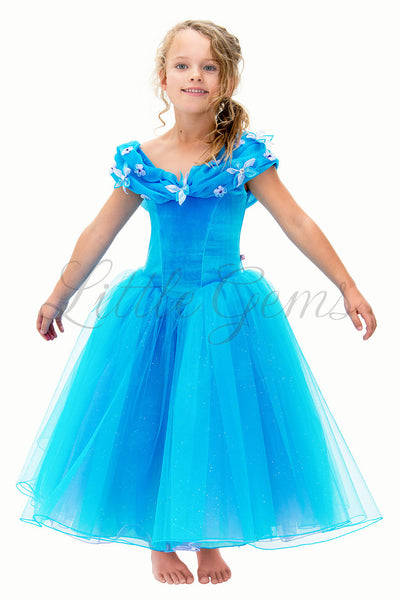 Cinderella Dress in Turquoise Princess Style
