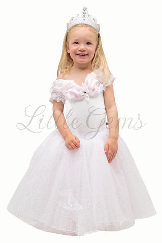Cinderella Dress in White Bridesmaid Princess Style