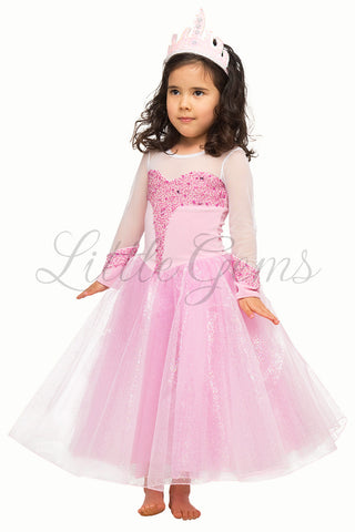 Elsa Deluxe Dress Baby Pink Frozen