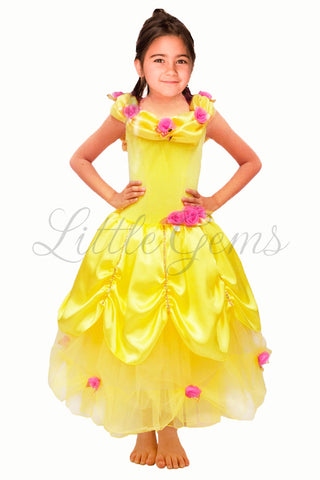 Emma Belle from Beauty and the Beast inspired dress
