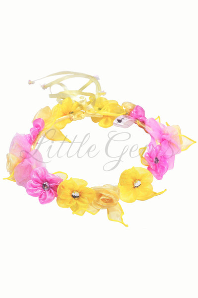 V Garland Apple Yellow/Hot Pink