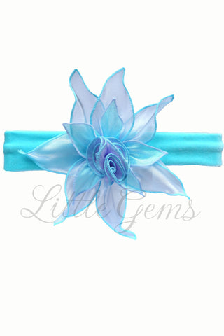 Headband Tiny Blossom Aqua