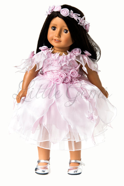 Dolls Fairy Flowergirl Dress Set with matching Garland Apple Lace