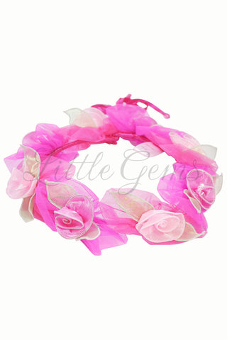 Petal Garland Jungerella in Hot Pink