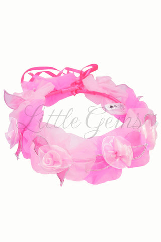 V Garland Roses Candy/Baby Pink